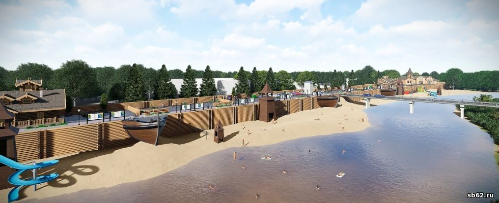 Концепция благоустройства набережной реки Вожа в городе Рыбное